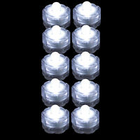 10 Pack~White~Submersible Waterproof Underwater Battery LED Tea Light~Wedding