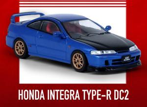 1/64 Die Cast Acura INTEGRA Type-R DC2 W/ Extra Wheels + Decals Model Car