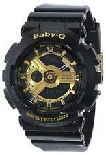 Brand New Casio Women's BA110-1A Baby-G Goldtone Black Resin Strap Watch
