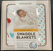 Bebe Au Lait Premium Muslin Swaddle Blankets Bowler & Polka Set