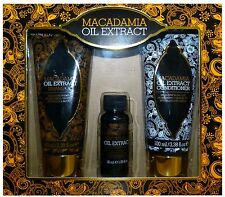 Macadamia Oil Extract Gift Set - 100ml Shampoo & Conditioner 30ml Oil