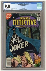 Detective Comics 476 (CGC 9.0) Joker appearance DC Comics 1978 Newsstand B552