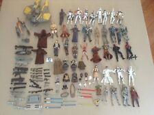 Huge Lot of Star War Action Figures 2000's Vehicles Accessories Weapons