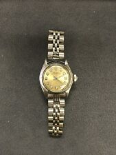 Vintage Rare Rolex Oyster Perpetual Ladies Wristwatch With Factory Diamond Dial