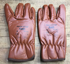 BROWN THERM A GRIP ANSELL ECW GLOVES - Size: 9 , NEW