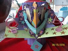 Congratulations Card 3D  Pop Up Greeting by RUSS ~ Cake Topper ~ Centerpiece NIB
