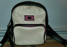 STEVE MADDEN SMALL WOMEN'S BACKPACK FAUX LEATHER BAG TAN BLACK PURSE PRE OWNED