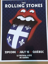 The Rolling Stones 2015 Poster/Lithograph-Zip Code Tour-Quebec City July 15