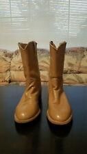 Womens Size 7 C Justin L3710 Carmel Western Roper Cowboy Boots