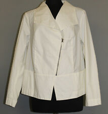 RISONA EUROPEAN COTTON POLYURETHANE PARACHUTE POCKET ZIP L/S JACKET OFF WHITE 14