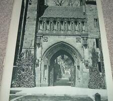 1946 Photo Print SALTBOX Rhode Island HARKNESS MEMORIAL LIBRARY YALE UNIVERSITY