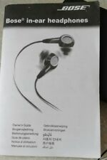 Bose Black In Ear Headphones with case and Owners Guide EUC
