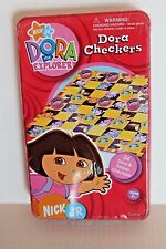 Nick Jr. Dora the Explorer Checkers Game in Metal Collectible Tin Ages 4+ NEW
