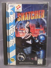 "Sega CD ""SNATCHER"" Game Disc w/ Case & Instructions 1994"