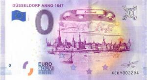 0 Euro Schein Düsseldorf Anno 1647 XEKY 2019-5 Souvenir Null € Banknote