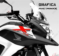 ADESIVI DECAL STICKERS HONDA NC700X NC 700 X RACING CARENA GRAFICA NERO ROSSO
