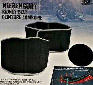 Motorrad Nierengurt Nierenwärmer doppelt Klett Gr.M L XL XXL schwarz NEU