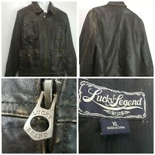 Lucky Brand Lucky Legend 80318 mens 4 pocket brown leather Jacket  Size XL