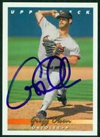 Original Autograph of Gregg Olson of the Orioles on a 1993 Upper Deck Card