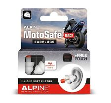 Motosafe Race Earplugs Alpine Hearing Protection Reusable Ear Plugs Motorcycling