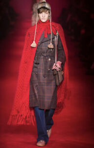 Gucci Wool Mohair Red Poncho Cape - With Tags- RRP$1,900 AUD