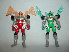 POWER RANGERS RPM RANGERS X2 GREEN AND RED