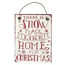 Heaven Sends Christmas Decoration There Is Snow Place Like Home! Mini Metal Sign