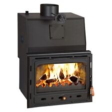 16kw.woodburning Poêle MultiFuel Intégré Cheminée 3 fonte Porte PRITY 3c