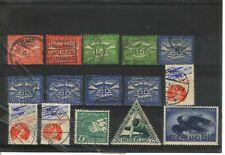 kaveltje luchtpostzegels Gestempeld en Postfris