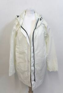 MHL BY MARGARET HOWELL Ladies Cream White Hooded Zip Front Cotton Jacket XS