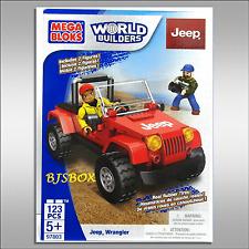 Mega Bloks World Builders Jeep Wrangler 123 Pcs. 2 Figures #97803 Playset New