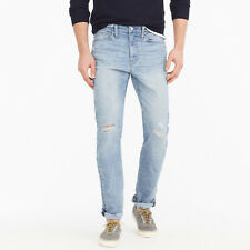 J. Crew 770 Cone Denim Men's Straight-fit Distressed Stretch Jeans NEW 34x34