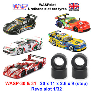 Urethane Slot Car Tyres - WASP 30 & 31 - Revo slot, 1/32