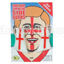 England Supporters Side Burns St George World Cup Football Rugcy Cricket Red Whi