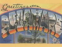 "*Delaware Postcard-""Greetings...From Delaware (N25)"