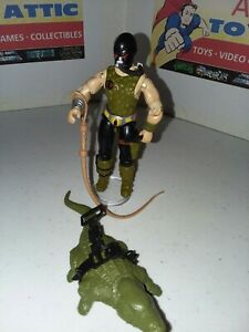GI JOE CROC MASTER Vintage Action Figure COMPLETE v1 1987 - Very Nice