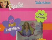 Barbie 30 Foil Fold & Seal Valentine Cards • 48 Seals • 2 Large Friendship Cards