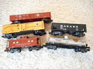 S SCALE AMERICAN FLYER #930, 940, 647, 24106 & 24310 CAR GROUP
