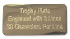 Personalised Engraved Gold Trophy Presentation Plate 50mm x 25mm