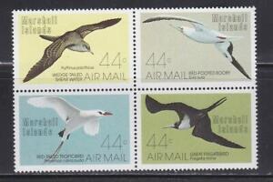 BIRD194 -  BIRDS STAMPS MARSHALL ISLANDS 1987 BIRDS BLOCK MNH