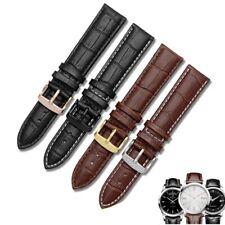 Para correa de reloj negra de cuero genuino de marca tamaño 12mm 14mm 15mm 16mm