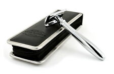 Otto Kampfe Safety Razor with Travel Case - Long Handle - Great Gift for Men