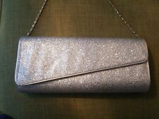 Sparkly Dorothy Perkins Silver Glitter Clutch Bag new with defects ❤❤❤❤
