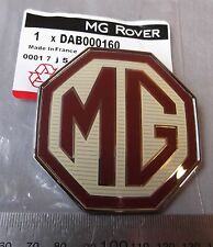 NUOVO Originale MG TF Anteriore/Posteriore Badge Emblema BORDEAUX/CREMA 70mm DAB000160