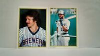 Uncirculated Glossy 1983 Topps All Stars Brewers Robin Yount and Cecil Cooper