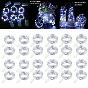 Battery Powered 2m 20 LED String Lights Fairy Lights Indorr/Outdoor Clear White