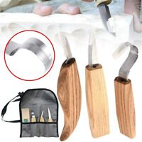 5Pcs Wood Carving DIY Hand Chisel Tool Set Woodworking Cutter Chip Hand  K
