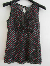 """See Through Gambling Cards Zara Top in Size M / 8 - 10 - Sleeveless - Chest 36"""""""