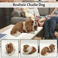 Realistic Charlie Dog Plush Toy Stuffed Animal Soft Pet Cute Kid Gift 2020 NEW