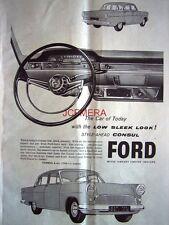 Ford CONSUL 1959 Saloon Motor Car ADVERT #2 - Original Auto Print AD